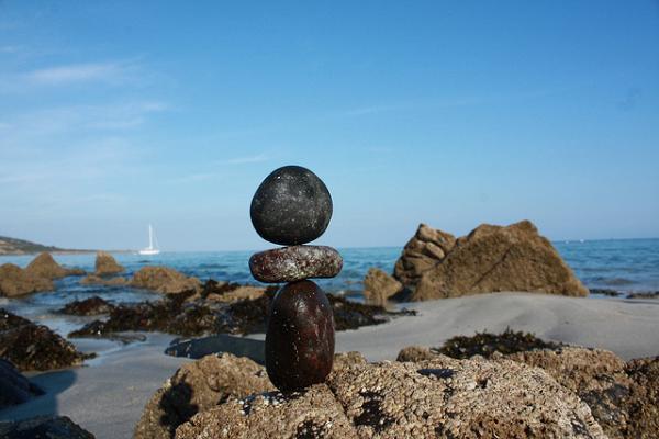 Balancing stones.