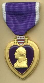 Purple Hearts are awarded to those wounded in combat.
