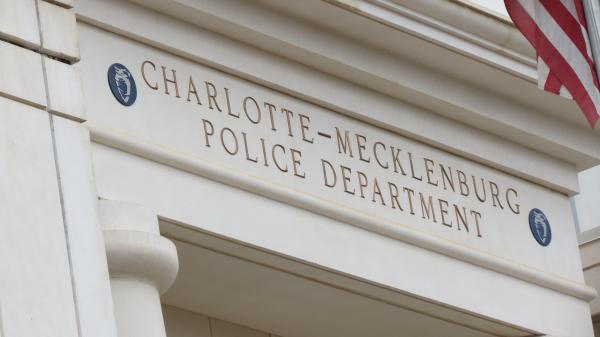 The Charlotte Mecklenburg Police Department headquarters in uptown Charlotte.
