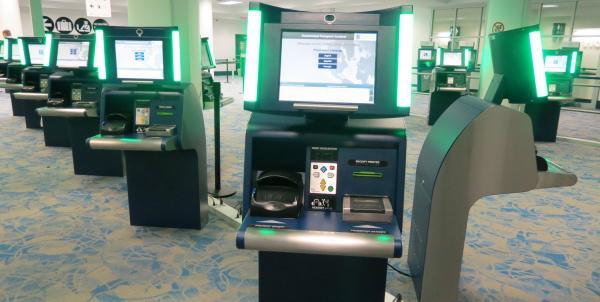 Two dozen automated passport control kiosks were installed at Charlotte Douglas International Airport last week.