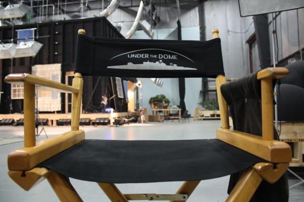 "A chair on set of CBS's ""Under The Dome"""