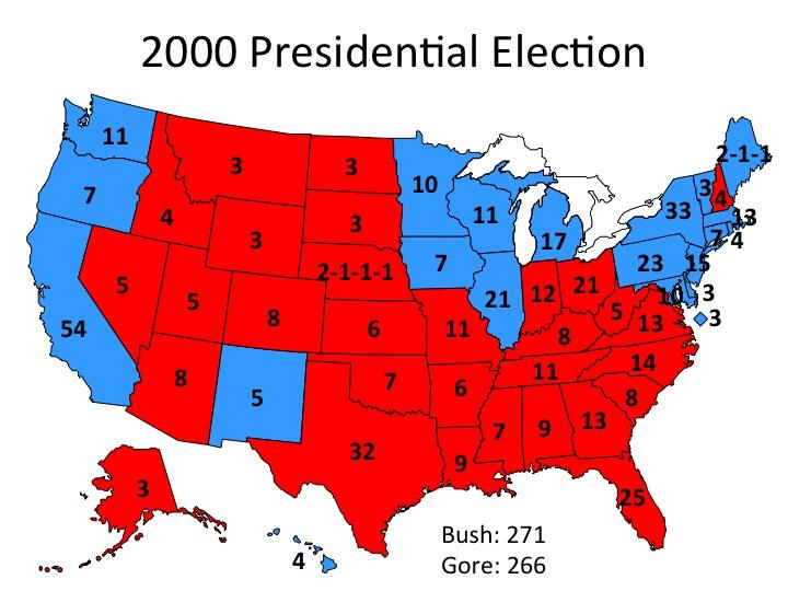2000 us presidential election Congress gave native americans the right to vote in presidential elections in  the united states is ranked 139th out of  in the 1984 presidential election,.