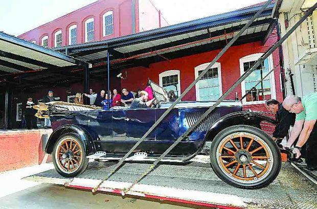 The 1921 Anderson on display at the Old Cotton Mill in downtown Rock Hill, S.C.