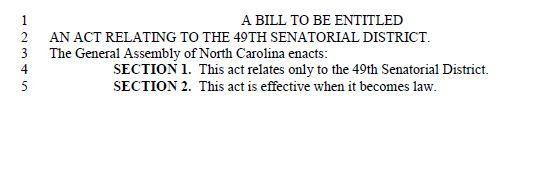 good or bad government blank bills and the nc senate wfae