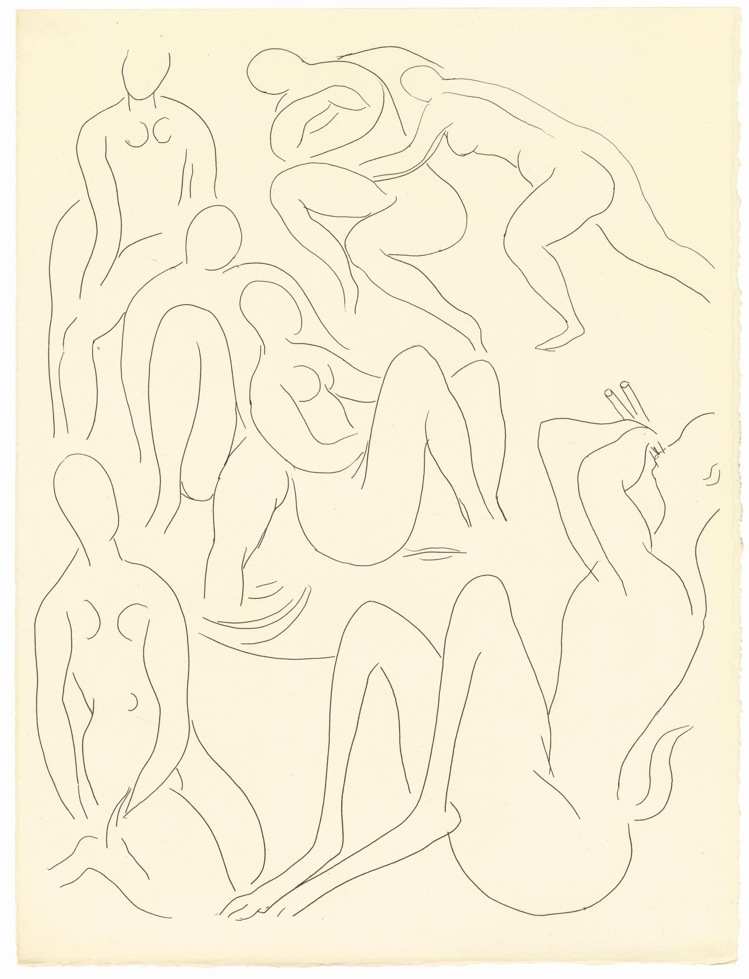 Nymphes Et Faune Le Concert Nymphs And Faun The From Poetry Of Stehpane Mellarme Henri Matisse