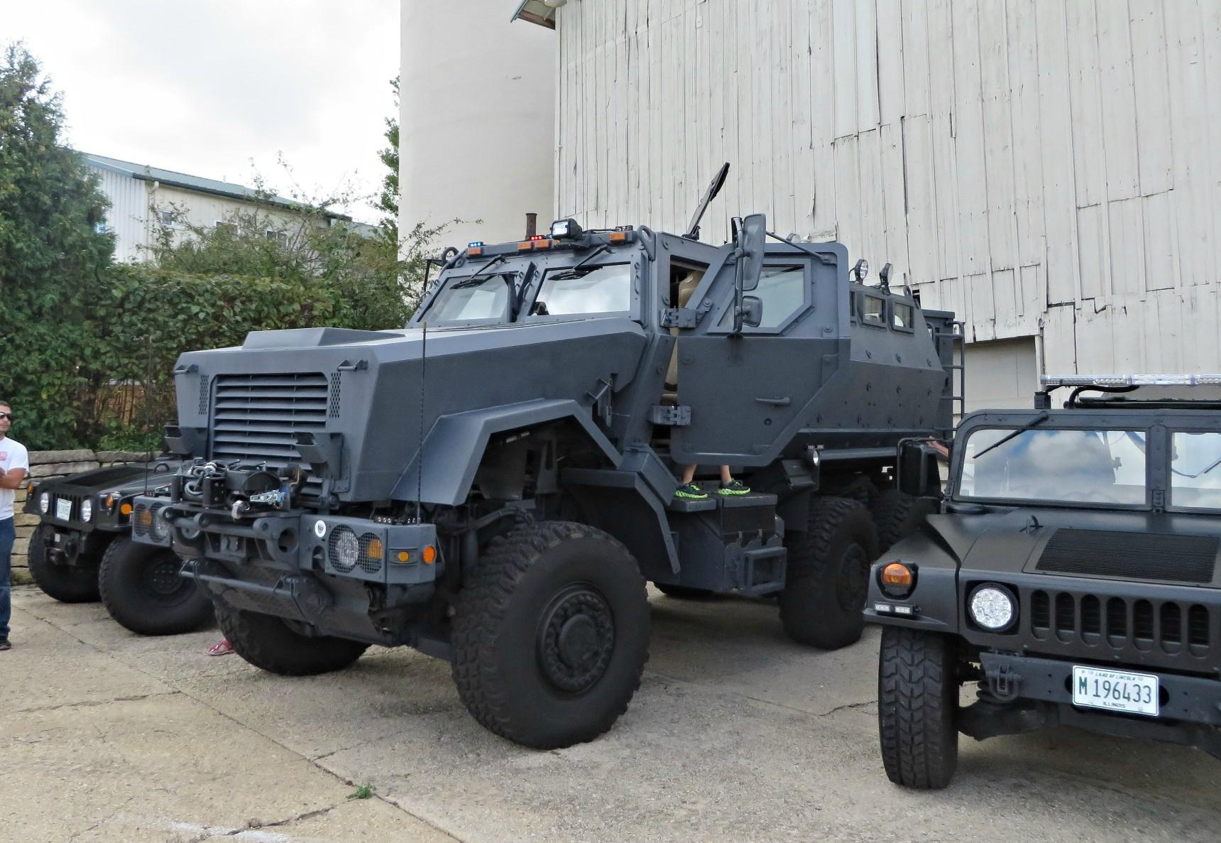 AG: Trump ends limits on military gear for cops