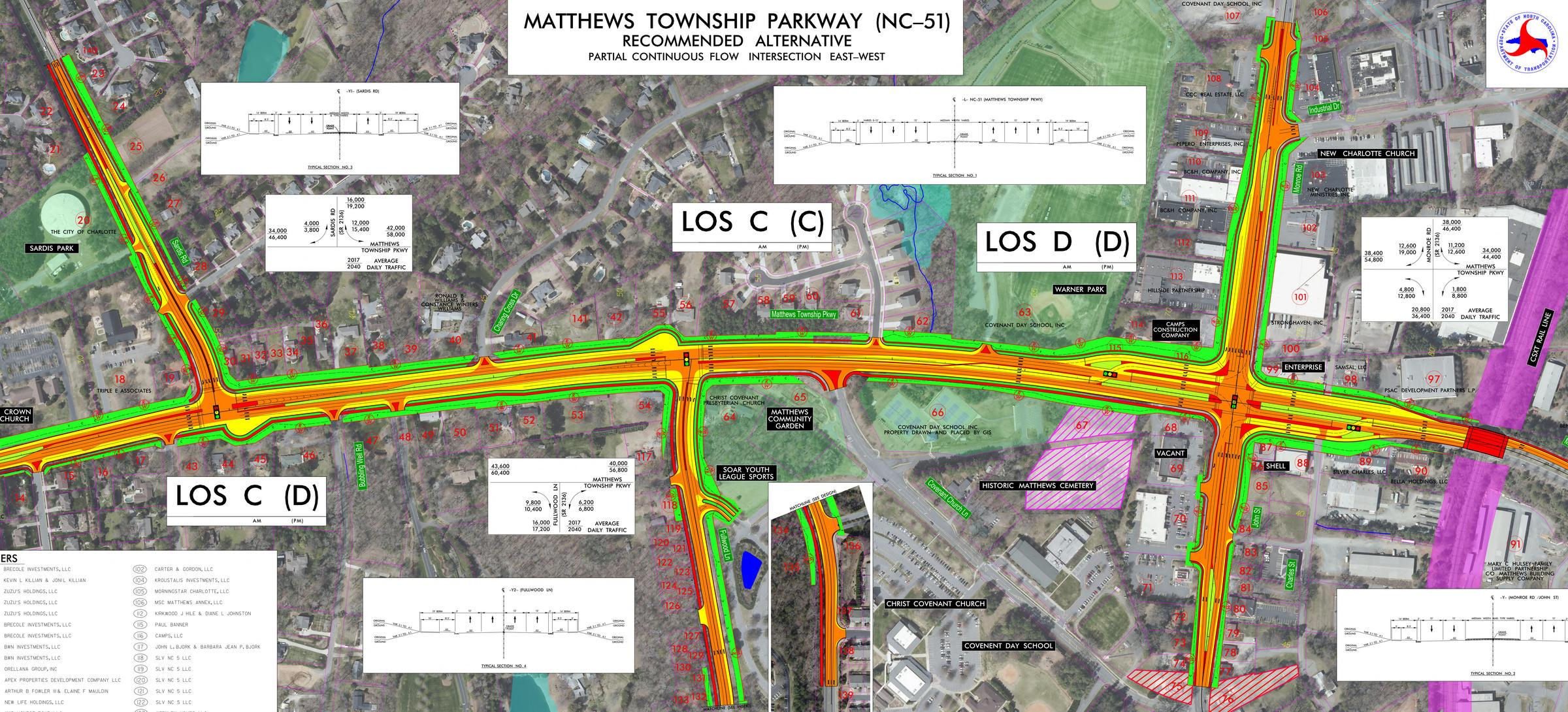 Widening Bicycle Lanes Planned On Highway 51 In Matthews Wfae