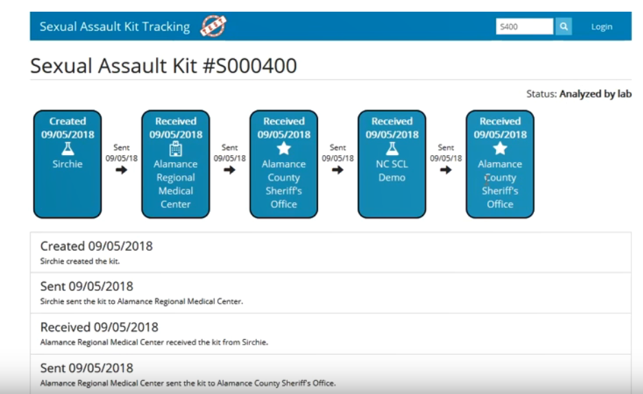 This video demonstration explains to sexual assault survivors how to use  the new tracking system.