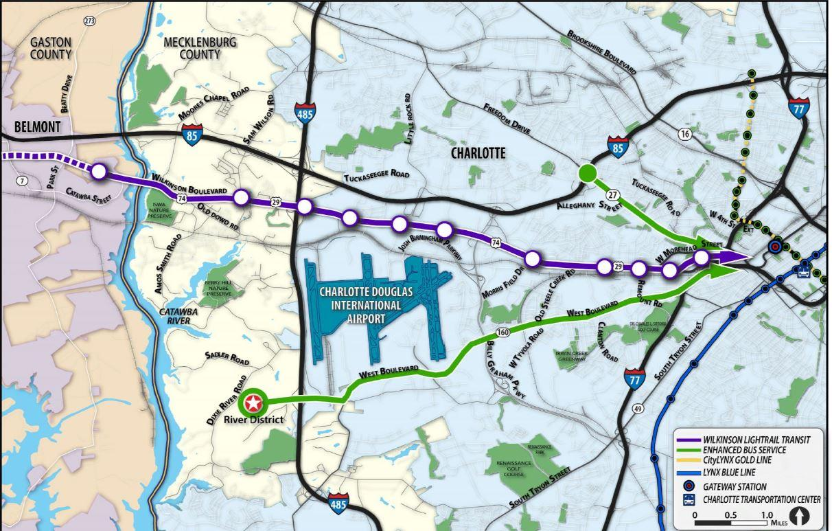 Cats Picks Rail Route From Uptown To Airport And Gaston County Wfae