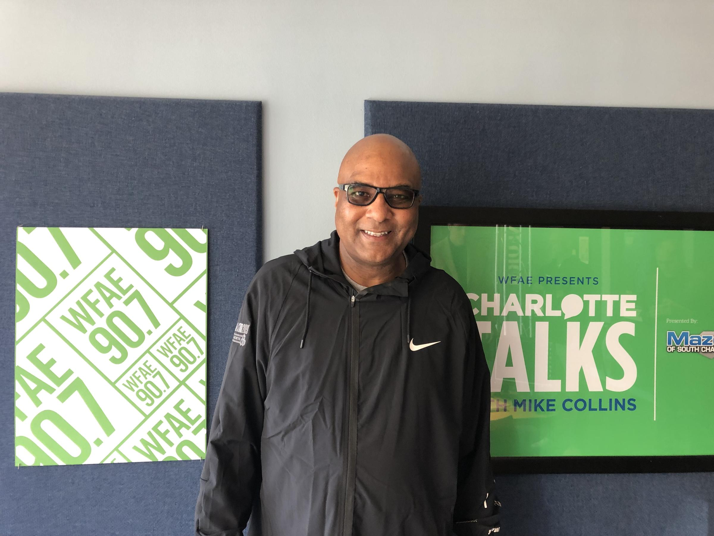 outlet store 299b9 52ca5 Fred Whitfield, the Charlotte Hornets  president, at WFAE s Spirit Square  studio.