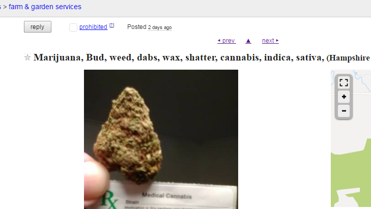 "An ad posted to ""farm & garden services"" on the Western Massachusetts Craigslist in January of 2017."