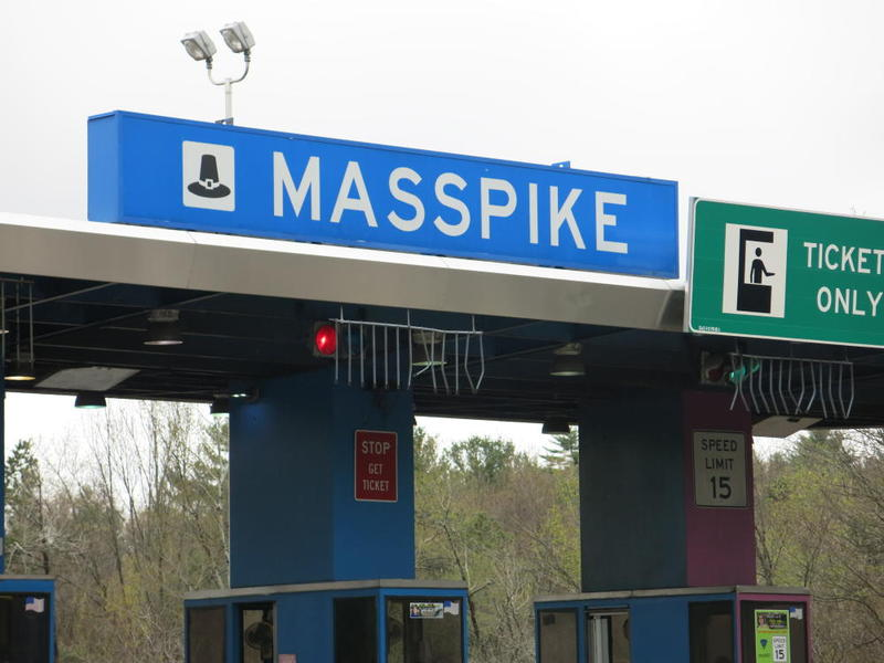 The former toll booth at Exit 8 of the Massachusetts Turnpike in Palmer.