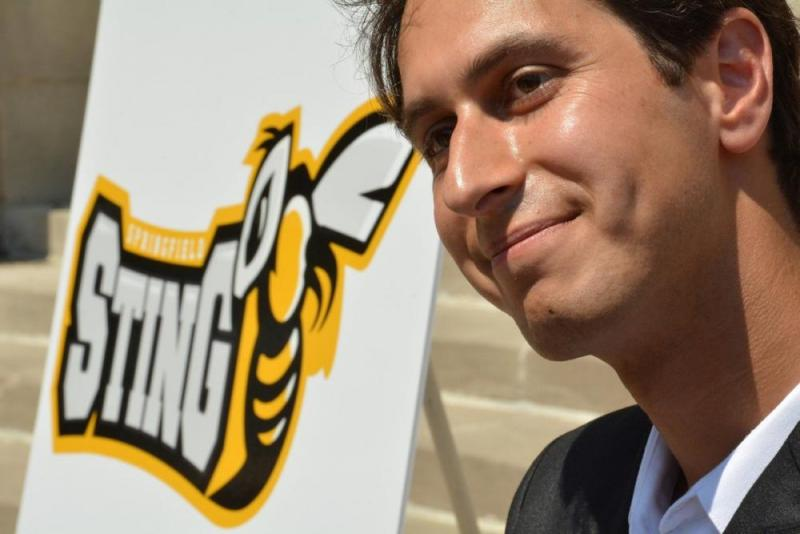 Springfield Sting owner Zach Baru of Longmeadow.