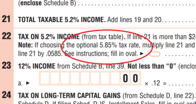 The 2016 Massachusetts income tax form.