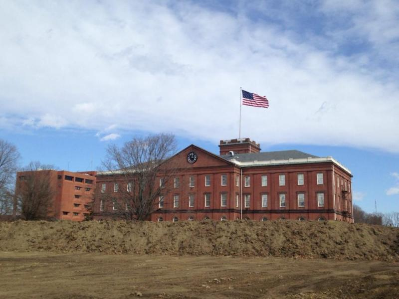 Landscape reconstruction at the Springfield Armory in Springfield, Mass.