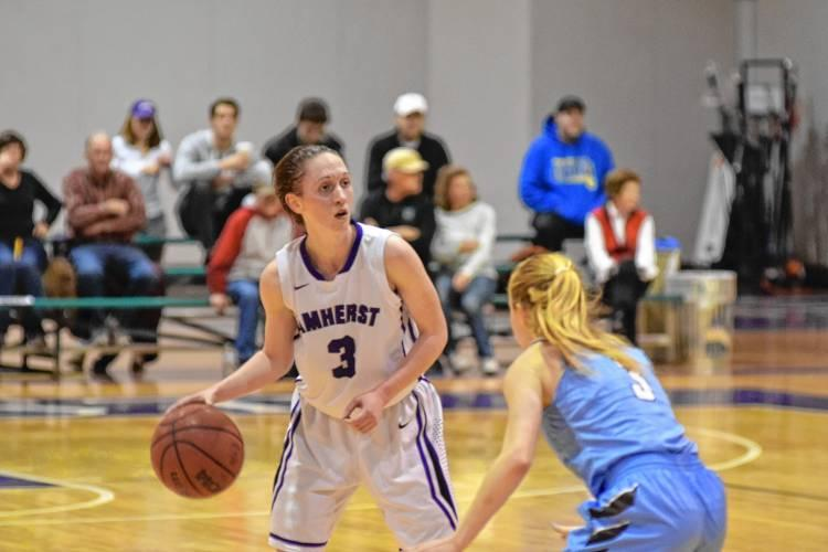 Action from an Amherst College women's basketball game.