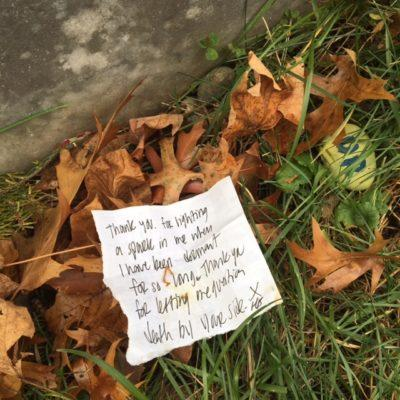 A note found near Emily Dickinson's tombstone.
