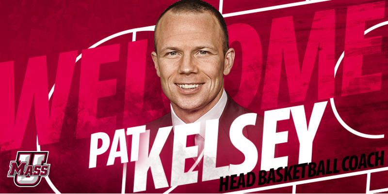 A promotional graphic used by UMass in the two days between Pat Kelsey agreeing to become the new head basketball coach -- and when he backed out of the deal.