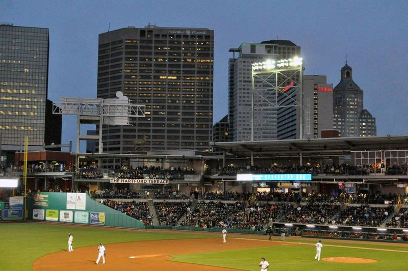 The Hartford Yard Goats minor league baseball team has their home opener at Dunkin Donuts Park Thursday, April 13, 2017.