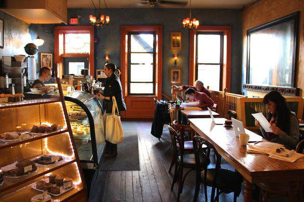 Haymarket Cafe in Northampton, which is closing for part of May 1, 2017, to support workers and immigrants.