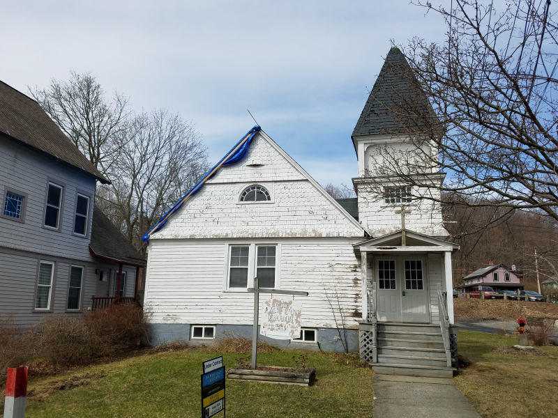 The former Clinton AME Zion Church in Great Barrington, Massachusetts.