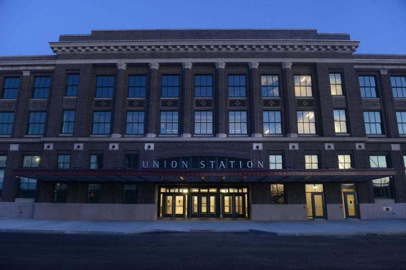 Springfield's Union Station and the Union Station Parking Garage on March 23, 2017.