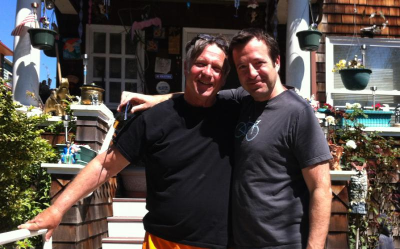 Howie Gordon (left) and Lou Cove, today.