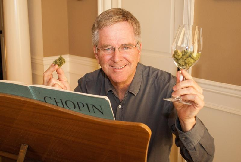 Travel writer Rick Steves donated to the campaign to legalize marijuana in Massachusetts, and came to the state to campaign for the ballot question.