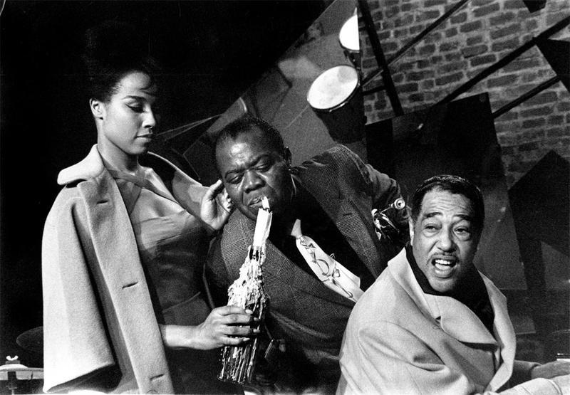 Diahann Carroll, Louis Armstrong, Duke Ellington in Paris Blues