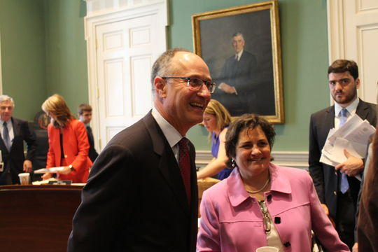 Judge Kafker meets with members of the Governor's Council on July 15, 2015.