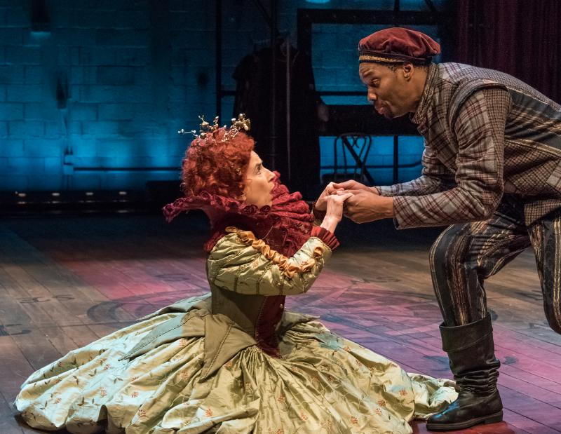 Bella Merlin and Deaon Griffin-Pressley, in  the production of Cymbeline.