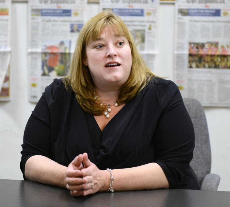 Susannah Whipps, during a meeting with the Springfield Republican editorial board.