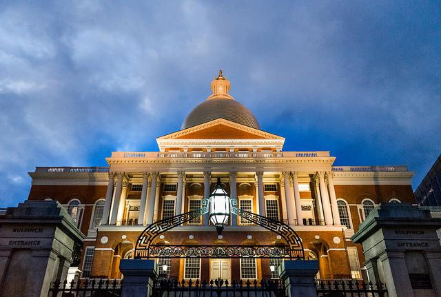 In a photo from April 2017, the Massachusetts Statehouse.