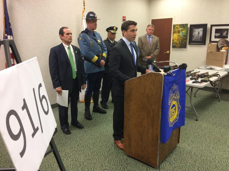 Hampden DIstrict Attorney Anthony Gulluni announced the drug raids and arrests during a press conference on August 8, 2017.
