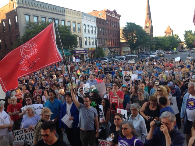 Scenes from a rally in Northampton, Mass., on Aug. 13, 2017, opposing white supremacists.