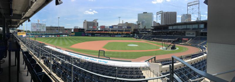 Dunkin' Donuts Park in Hartford, where the Yard Goats play.