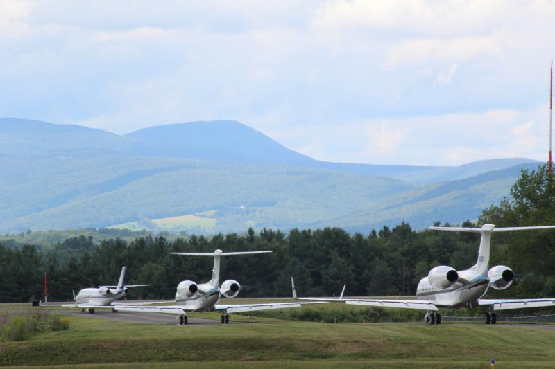 A plane at Pittsfield Municipal Airport.