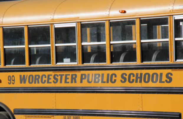 A school bus in Worcester.
