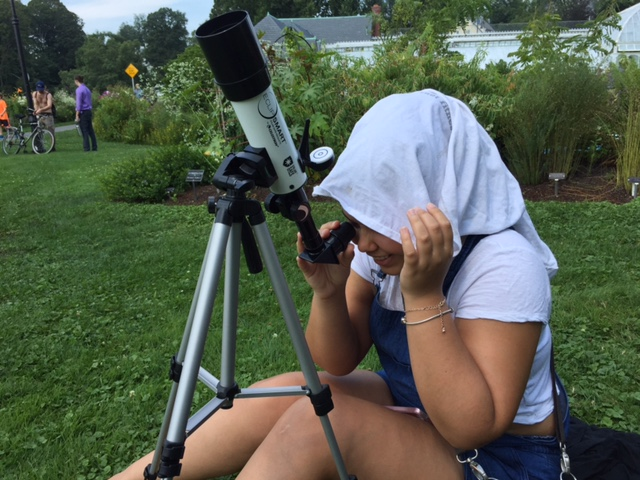 Scenes from an eclipse-watching party at Smith College.