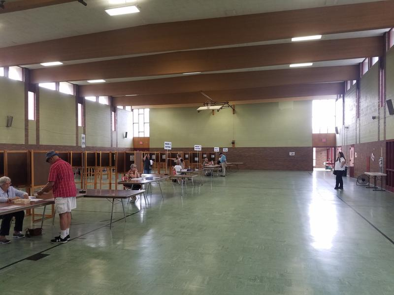 The polling place at St. Elizabeth Parish Center in North Adams, Mass., on Sept. 19, 2017.
