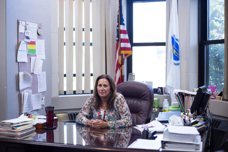 Diane Bauer the principal for the High School of Commerce in her office in Springfield, Massachusetts, on Tuesday, September 12, 2017.