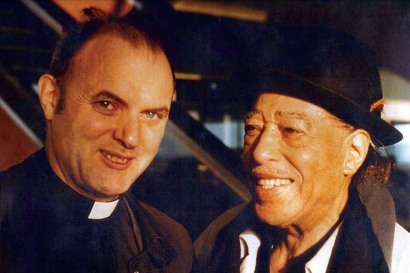 Father Gerald Pocock and Duke Ellington