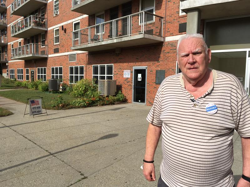 Larry Ryan was the polling place warden at Falcetti Towers in Holyoke on Sept. 26, 2017.