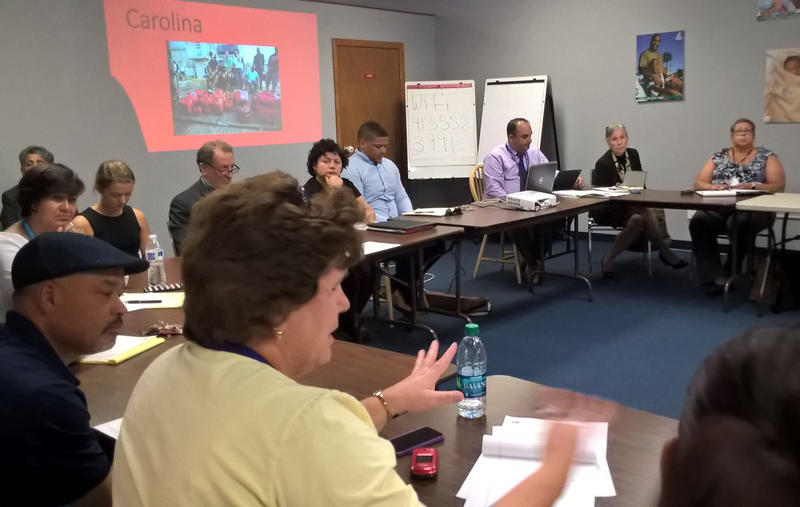 A meeting at Enlace de Familia in Holyoke, Mass. on Thurdsay, Sept. 28, 2017 addressed the possible influx of Puerto Rican families in the area.