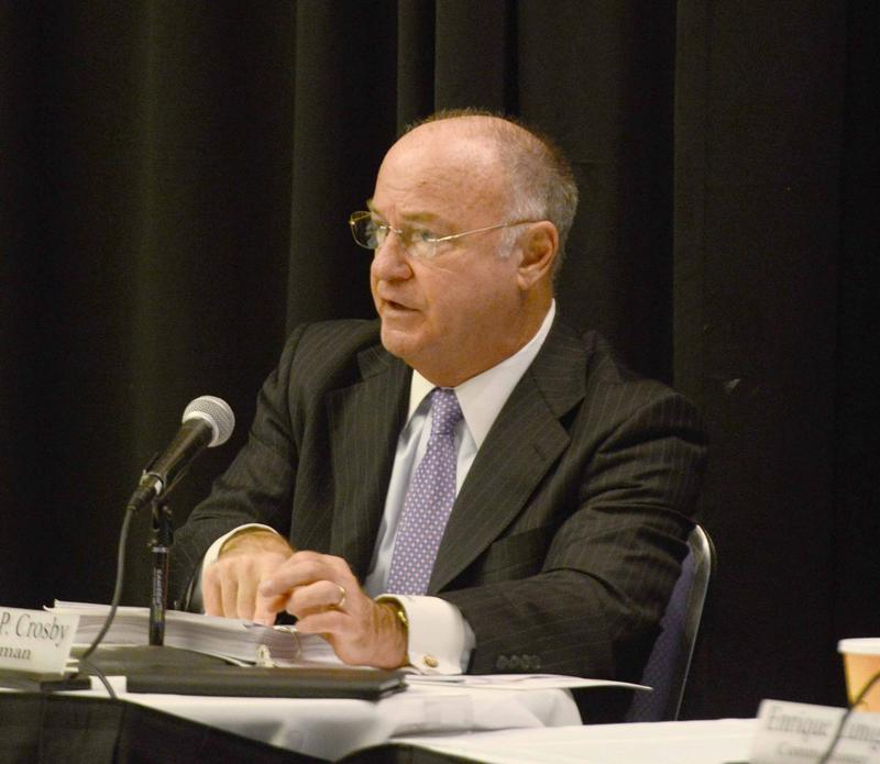 Former Massachusetts Gaming Commission Chairman Steve Crosby at a meeting held at the MassMutual Center in April 2016.