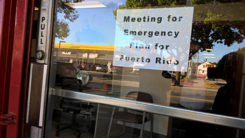 Government and nonprofit leaders in Holyoke, Mass., gathered to prepare for the expected arrival of people from Puerto Rico.