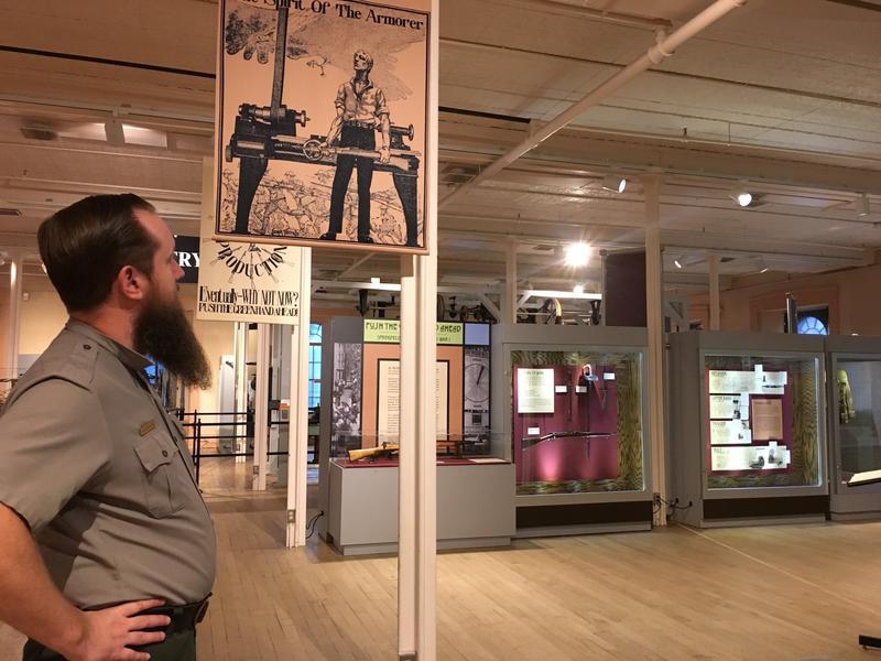 Alex MacKenzie, curator, Springfield National Armory Historic Site.