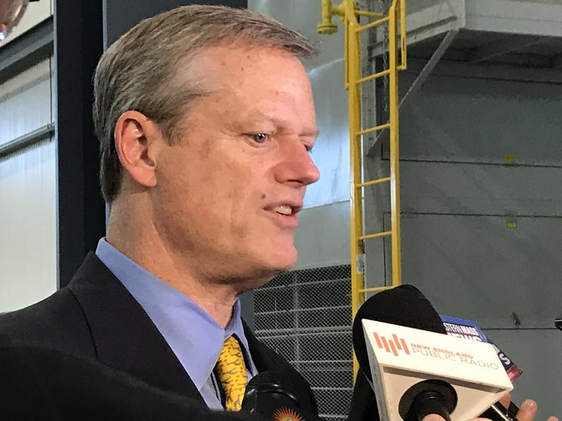 Massachusetts Gov. Charlie Baker spokes to reporters in Springfield on Oct. 12, 2017.