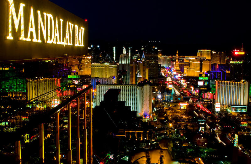 The Las Vegas strip as seen from the Mandalay Bay hotel in a file photo.