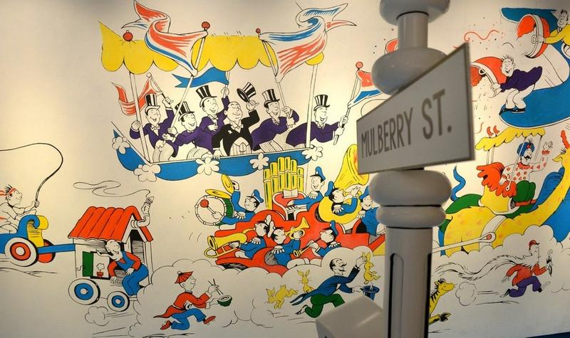 A controversial portion of a mural in the Seuss museum in Springfield, Mass.